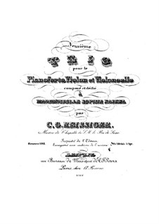 Фортепианное трио No.9, Op.103: Фортепианное трио No.9 by Карл Готлиб Райсигер