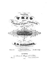 Фортепианное трио No.12, Op.137: Фортепианное трио No.12 by Карл Готлиб Райсигер