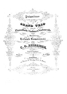 Фортепианное трио No.15, Op.167: Фортепианное трио No.15 by Карл Готлиб Райсигер