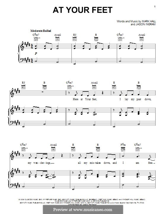 At Your Feet (Casting Crowns): Для голоса и фортепиано (или гитары) by Jason David Ingram, Mark Hall