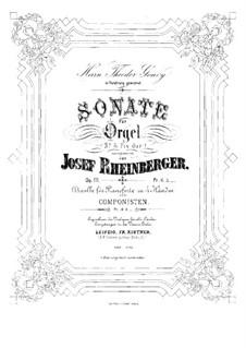 Соната для органа No.5, Op.111: Соната для органа No.5 by Йозеф Габриэль Райнбергер