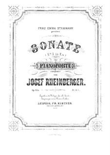 Соната для фортепиано No.3, Op.135: Соната для фортепиано No.3 by Йозеф Габриэль Райнбергер