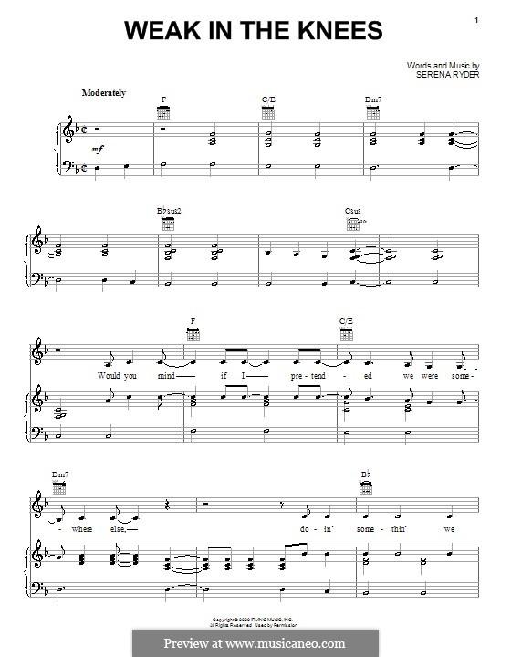 Weak in the Knees: Для голоса и фортепиано (или гитары) by Serena Ryder