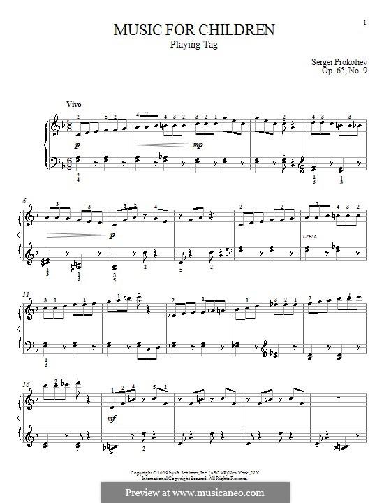 Музыка для детей, Op.65: No.9 Playing Tag by Сергей Прокофьев