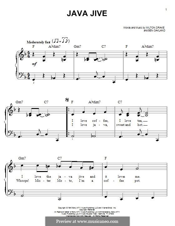 Java Jive (The Ink Spots): Для фортепиано (легкий уровень) by Ben Oakland, Milton Drake