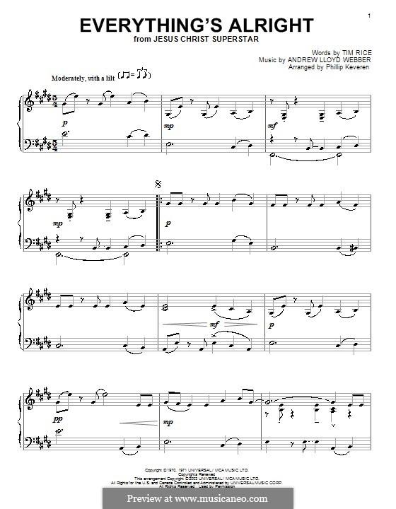 Everything's Alright: Для фортепиано by Andrew Lloyd Webber