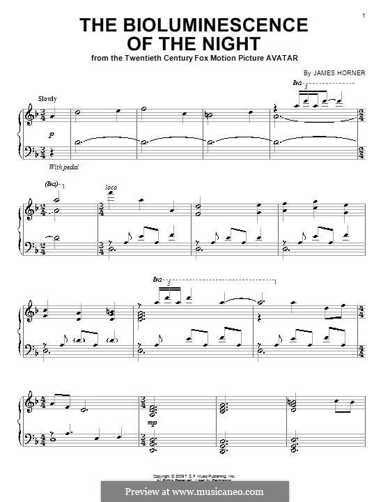 The Bioluminescence of the Night: Для фортепиано by James Horner