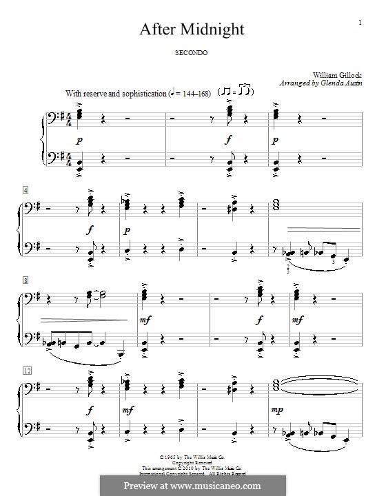 After Midnight: Для фортепиано в 4 руки by William Gillock