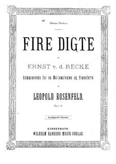 Четыре поэмы, Op.21: Четыре поэмы by Леопольд Розенфельд