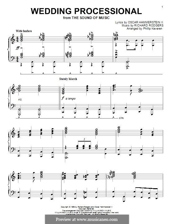 Wedding Processional: Для фортепиано by Richard Rodgers