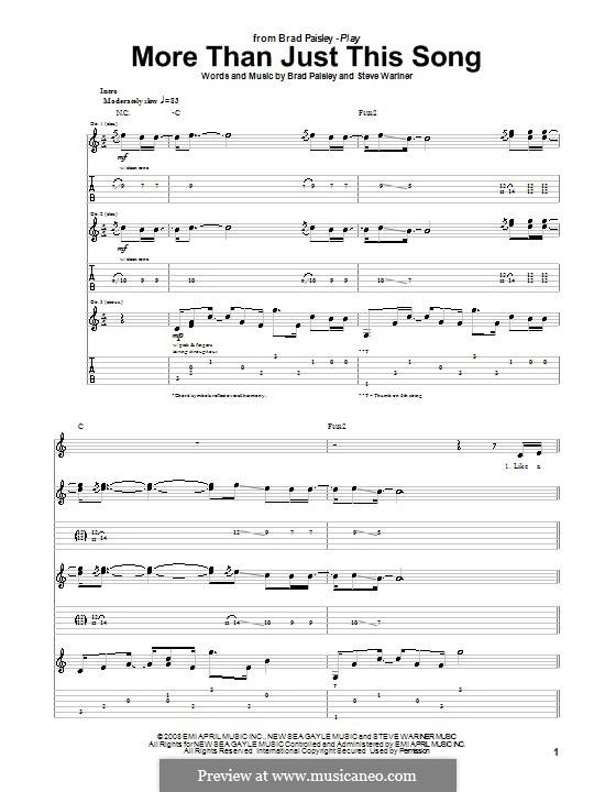 More Than Just This Song: Для гитары с табулатурой by Steve Wariner