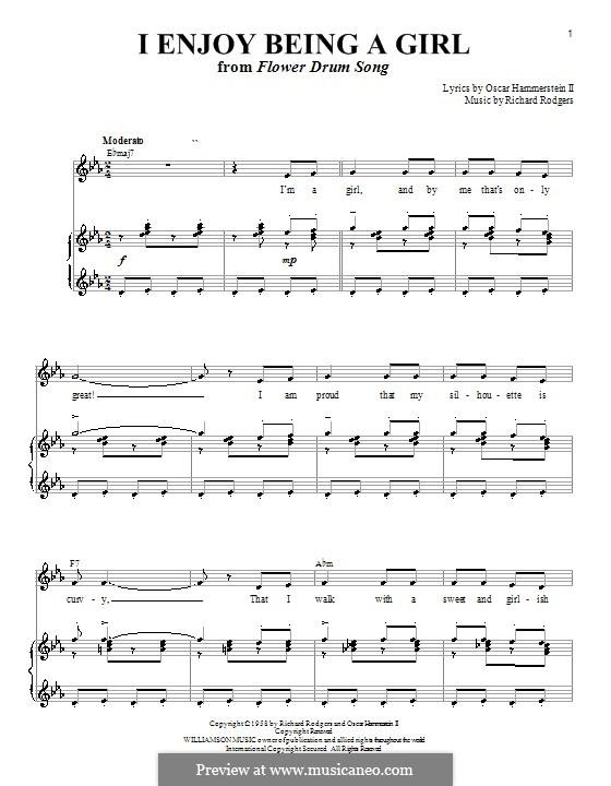 I Enjoy Being a Girl (from Flower Drum Song): Для голоса и фортепиано или гитары (ми бемоль мажор) by Richard Rodgers