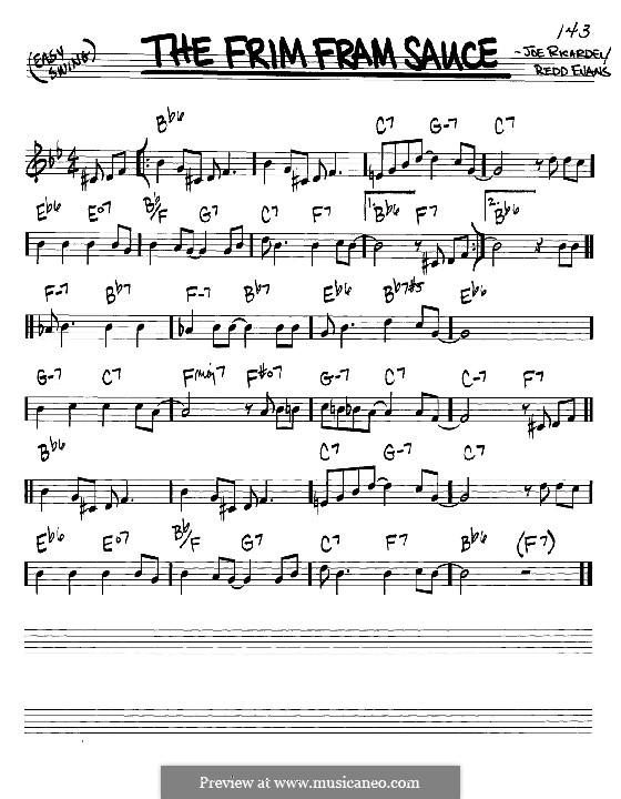 The Frim Fram Sauce: Мелодия и аккорды - инструменты in C (Nat King Cole) by Joe Ricardel