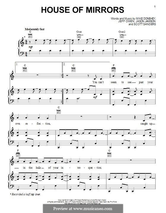 House of Mirrors (Tenth Avenue North): Для голоса и фортепиано (или гитары) by Jason Jamison, Jeff Owen, Michael Donehey, Scott Sanders