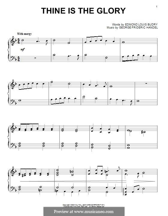 Thine Is the Glory: Для фортепиано by Георг Фридрих Гендель