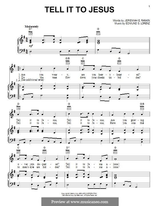 Tell it to Jesus: Для голоса и фортепиано (или гитары) by Edmund Simon Lorenz