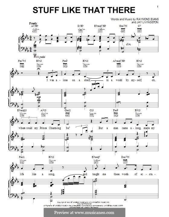 Stuff Like That There (Bette Midler): Для голоса и фортепиано (или гитары) by Jay Livingston, Raymond Evans