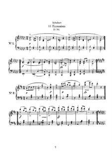 Одиннадцать экосезов , D.781: Для одного исполнителя by Франц Шуберт