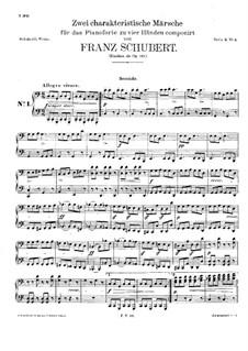 Два характеристических марша для фортепиано в четыре руки, D.886 Op.121: Партии by Франц Шуберт