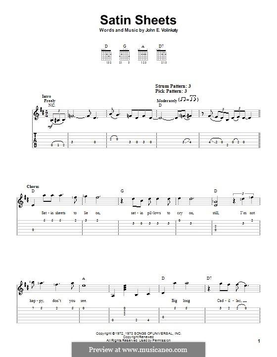 Satin Sheets: Для гитары (очень легкая версия) by John E. Volinkaty