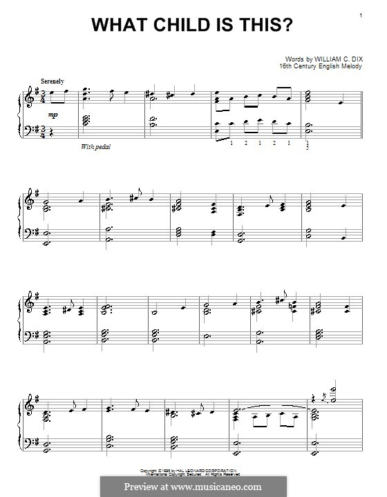 What Child is This, for Piano: Для одного исполнителя by folklore