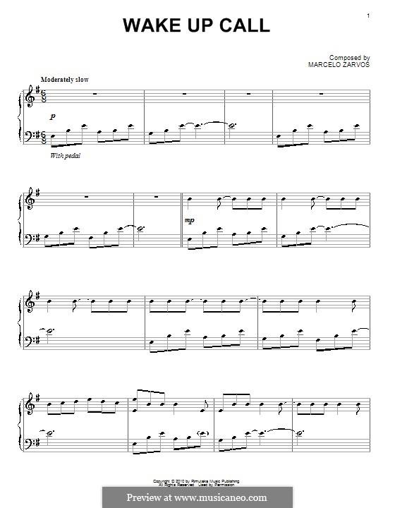 Wake Up Call: Для фортепиано by Marcelo Zarvos