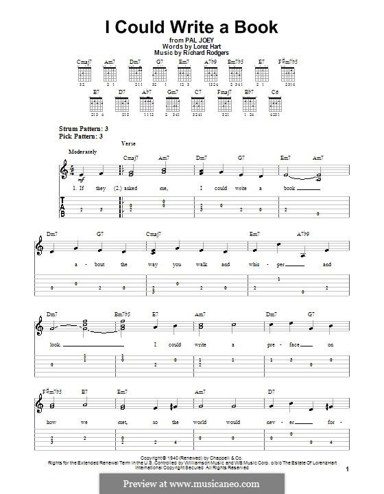 I Could Write a Book: Для гитары (легкий уровень) с табулатурой by Richard Rodgers