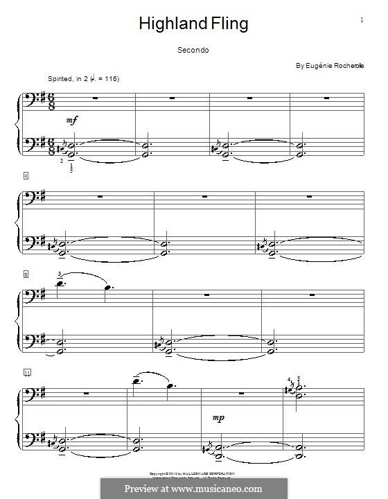 Highland Fling: Для фортепиано в четыре руки by Eugénie Rocherolle