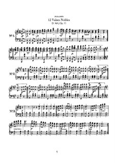 Twelve Valses Nobles, D.969: Twelve Valses Nobles by Франц Шуберт