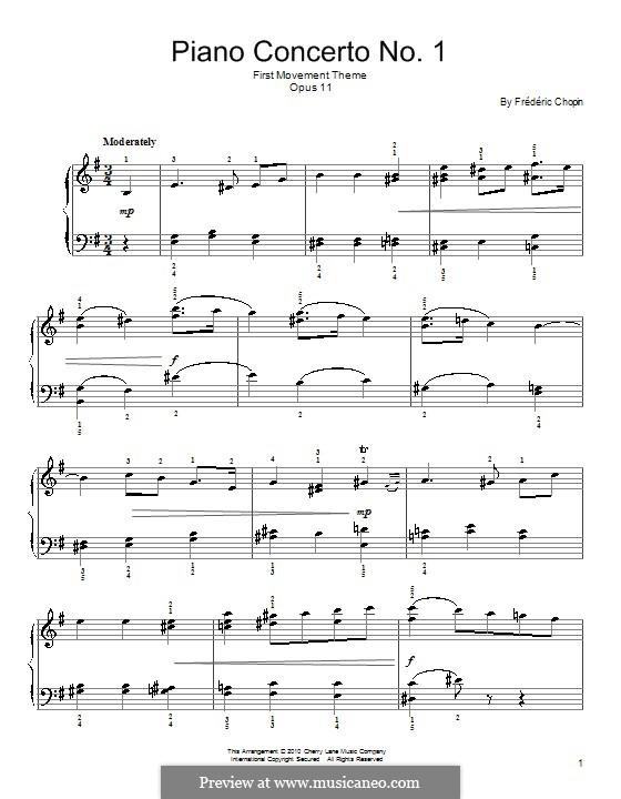 Фрагменты: Часть I (Theme). Version for easy piano by Фредерик Шопен