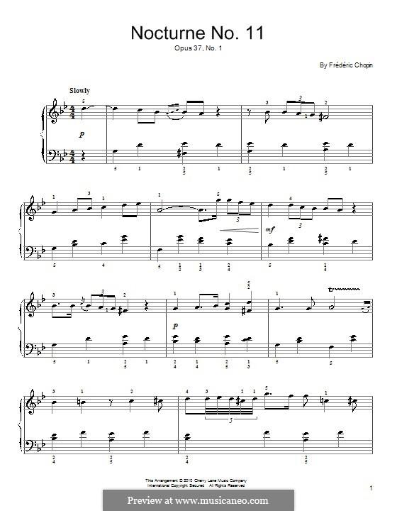 Ноктюрны, Op.37: No.1 соль минор by Фредерик Шопен