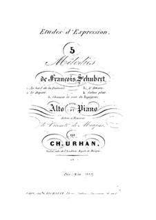 Пять мелодий для фортепиано и альта: Пять мелодий для фортепиано и альта by Франц Шуберт