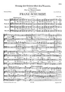 Gesang der Geister über den Wassern, D.538: Gesang der Geister über den Wassern by Франц Шуберт
