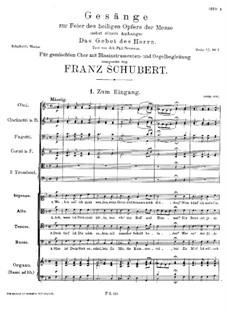 Gesänge zur Feier des heiligen Opfers der Messe, D.872: Partitur by Франц Шуберт