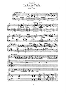 Фауст: Il était un roi de Thulé, for voice and piano by Шарль Гуно