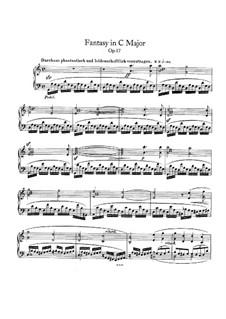 Фантазия до мажор, Op.17: Для фортепиано by Роберт Шуман
