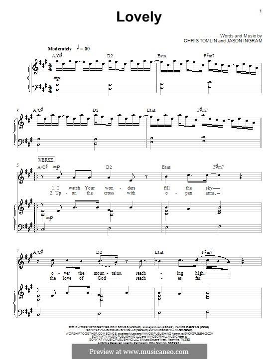 Lovely: Для голоса и фортепиано (или гитары) by Jason David Ingram