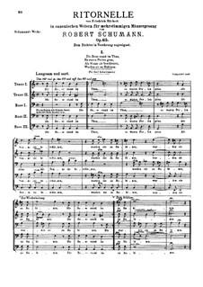 Ритурнели в канонической форме, Op.65: Ритурнели в канонической форме by Роберт Шуман