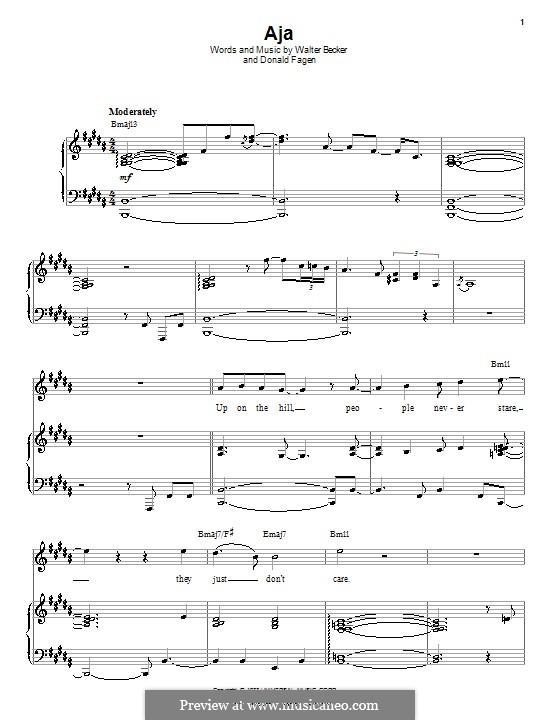 Aja (Steely Dan): Для голоса и фортепиано (или гитары) by Donald Fagen, Walter Becker