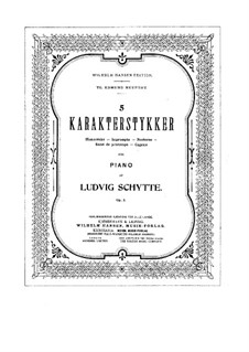Пять характерных пьес, Op.3: Пять характерных пьес by Людвиг Шитте