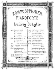 Пантомимы для фортепиано в четыре руки, Op.30: Пантомимы для фортепиано в четыре руки by Людвиг Шитте