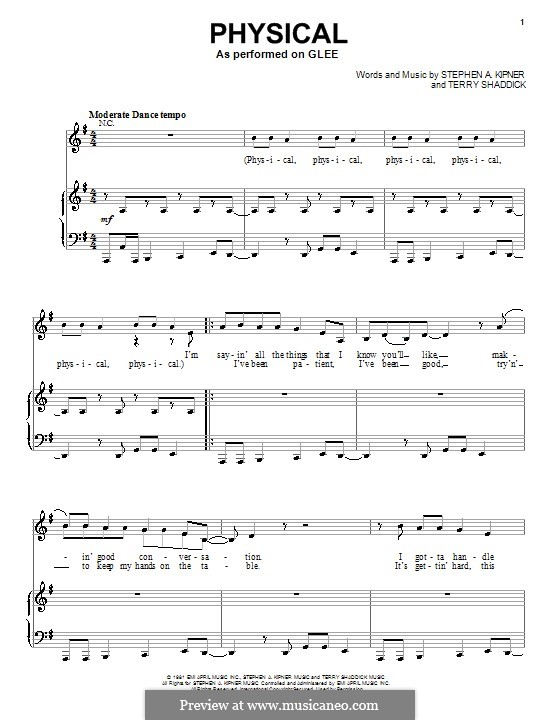 Physical (Olivia Newton-John): Для голоса и фортепиано (или гитары) by Stephen Alan Kipner, Terry Shaddick