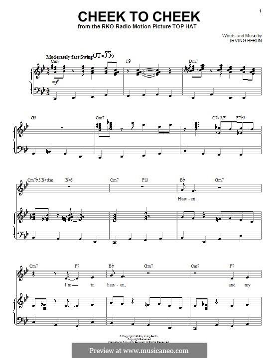 Cheek to Cheek: Для голоса и фортепиано (Frank Sinatra) by Ирвинг Берлин