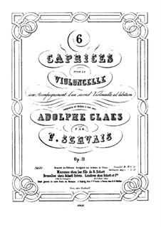Шесть каприсов для виолончели (с аккомпонементом виолончели ad libitum), Op.11: Сольная партия by Адриен Франсуа Серве