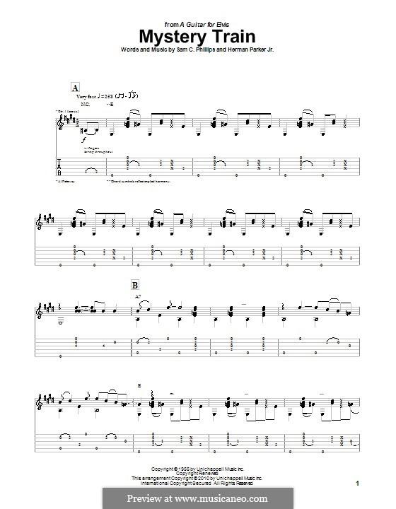Mystery Train (Elvis Presley): Для гитары с табулатурой by Herman Parker Jr., Sam C. Phillips