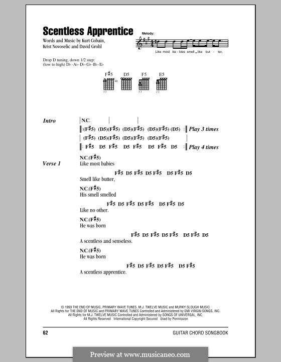 Scentless Apprentice (Nirvana): Текст, аккорды by David Grohl, Krist Novoselic, Kurt Cobain