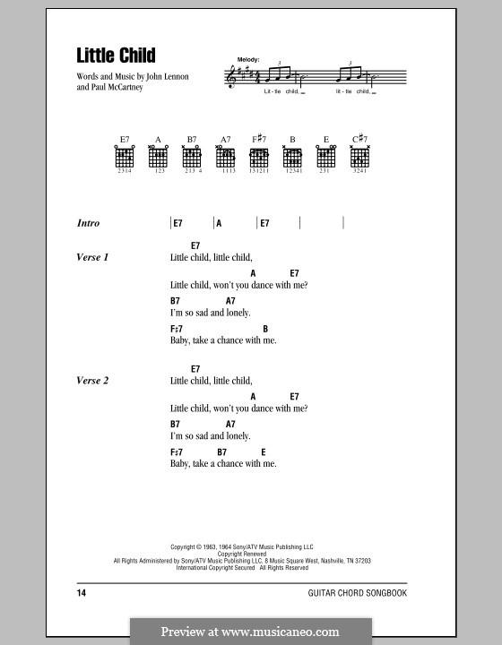 Little Child (The Beatles): Текст, аккорды by John Lennon, Paul McCartney