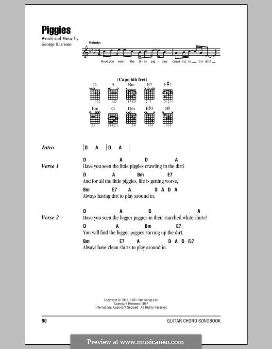 Piggies (The Beatles): Текст, аккорды by George Harrison
