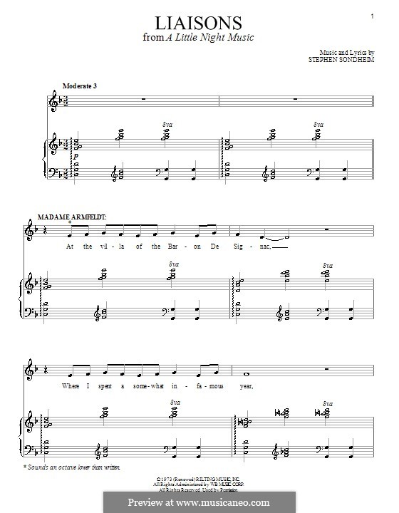 Liaisons: Для голоса и фортепиано by Stephen Sondheim