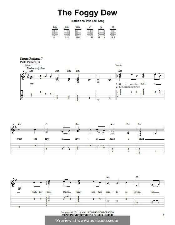 The Foggy Dew: Для гитары (очень легкая версия) by folklore